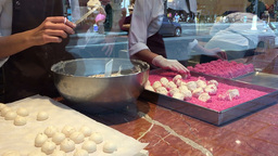 Making French Meringues Footage