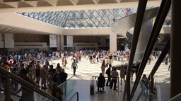 Short Timelapse Inside The Louvre museum Paris Footage