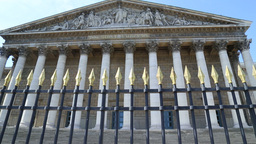 The National Assembly Building In Paris stock footage