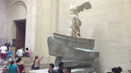 The Winged Victory of Samothrace Footage