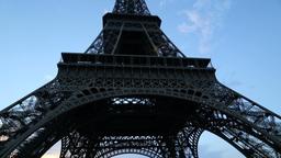 Tilt up on Eiffel tower Footage