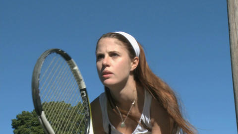 Female tennis player - determined look GIF