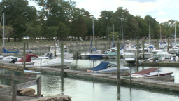 Boats Anchored at the Marina (1 of 7) Footage
