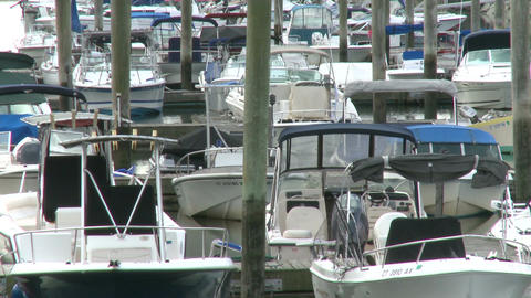 Boats Anchored at the Marina (3 of 7) Footage