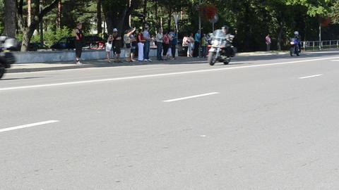 bikers people ride motorcycles Footage