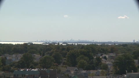 View of Manhattan skyline from Stamford (3 of 3) Footage