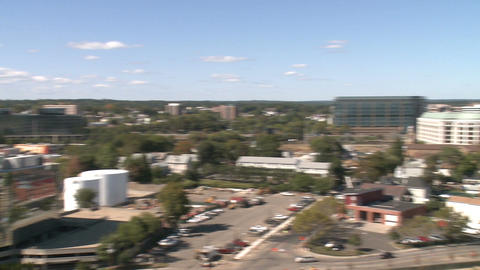 Aerial View of City of Stamford (4 of 9) Stock Video Footage