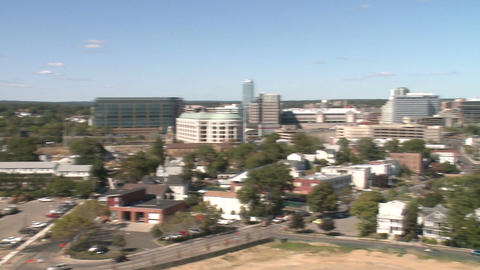 Aerial View of City of Stamford (4 of 9) Footage