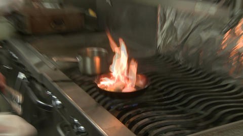 Skilled Chef frying food (4 of 5) Stock Video Footage