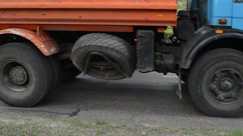 Heavy vibration roller machine asphalt press pavement works Footage