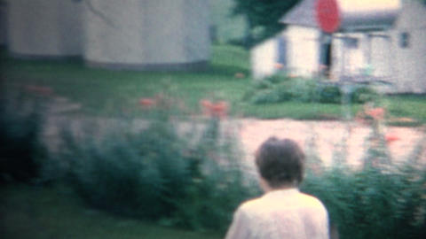 (8mm Vintage) 1962 Hose Water Fight Drinking Stock Video Footage