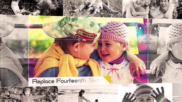 Family 3D Photo Album Slideshow stock footage
