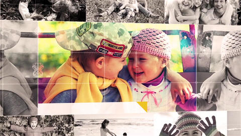 Family 3D Photo Album Slideshow After Effects Template