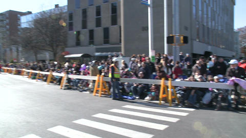 Crowds wait for the start of parade Stock Video Footage