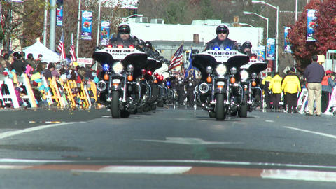 Police motorcade during a fall parade (5 of 8) Footage