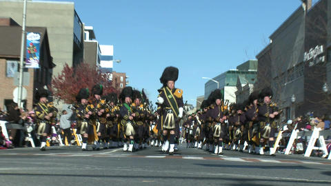 Scottish marching band (1 of 4) Stock Video Footage