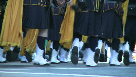 Scottish marching band (3 of 4) Stock Video Footage