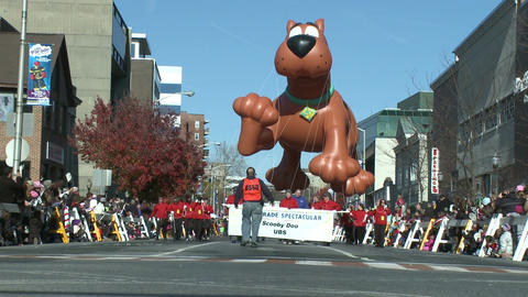 Scooby Doo balloon at parade (1 of 2) Footage