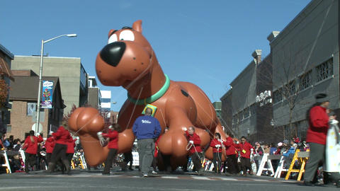 Scooby Doo balloon at parade (2 of 2) Footage