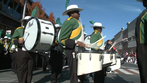 Drummers begin the parade festivities Footage