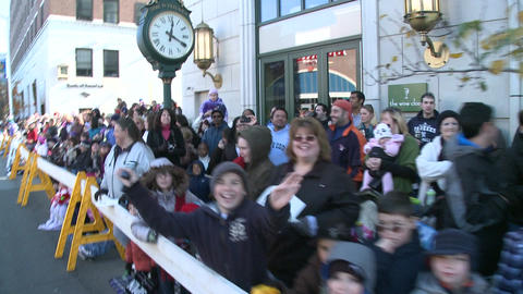 Crowds gather for parade (3 of 3) Stock Video Footage