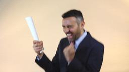 happy employee 3 Stock Video Footage