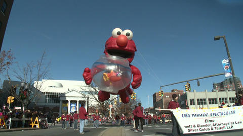 Elmo balloon at parade (3 of 3) Stock Video Footage
