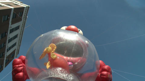 Elmo balloon at parade (1 of 3) Footage