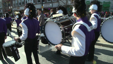 Drumline perform at parade (5 of 5) Footage