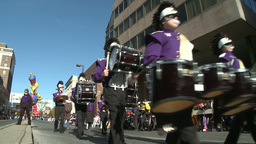 Marching band on the move (1 of 3) Stock Video Footage