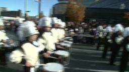 Drumline perform at parade (3 of 5) Footage