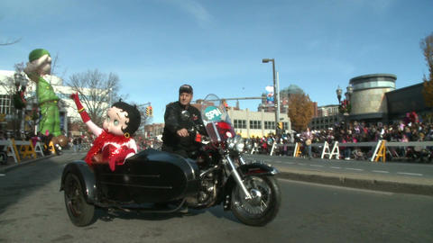 Betty Boop character at parade Stock Video Footage