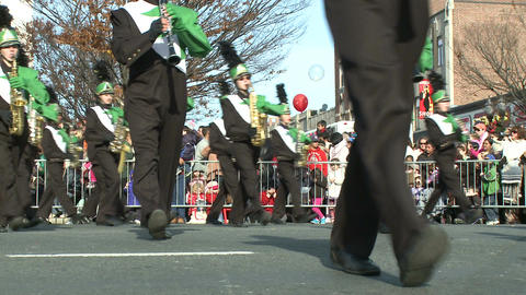 Marching band performs at parade (4 of 5) Footage