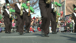 Marching band performs at parade (4 of 5) Stock Video Footage