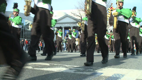 Marching band performs at parade (2 of 5) Footage