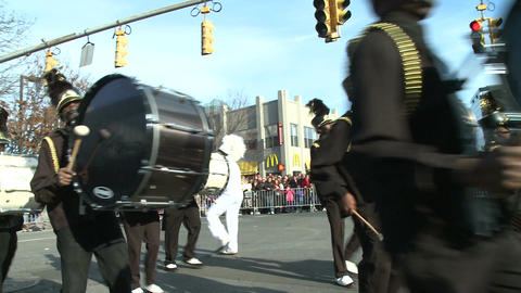 High school marching band at parade Footage