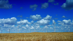 Concept Of Using Natural Resources Intelligently.Wind Energy Turbines,Wind Power Footage