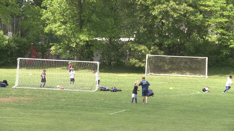 Elementary School Boys Playing Soccer (6 of 6) Stock Video Footage