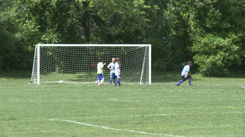 Elementary School Boys Playing Soccer (3 of 6) Stock Video Footage