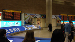 Ben Gurion Airport Meeters And Greeters area Stock Video Footage