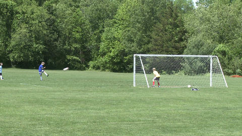 Elementary School Boys Playing Soccer (2 of 6) Stock Video Footage
