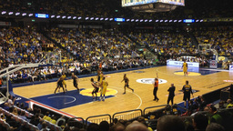 Free throw during basketball game Stock Video Footage