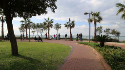 Netania Beach Observation Point stock footage