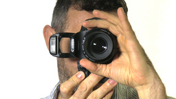 y 091213 Photographer using DSLR Stock Video Footage