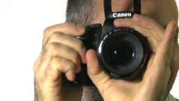 y 091213 2 Photographer using DSLR Stock Video Footage