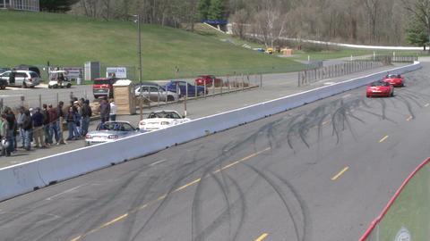 Mazdas racing (8 of 9) Stock Video Footage