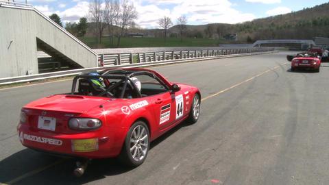 Mazdas racing (1 of 9) Stock Video Footage
