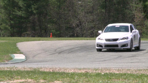 Flying down a racetrack (2 of 8) Stock Video Footage