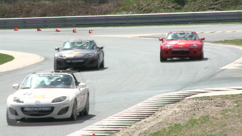 Racing on a rainy day (1 of 8) Stock Video Footage