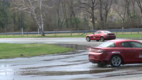 Racing on a rainy day (7 of 8) Stock Video Footage